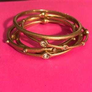 Set of 5 Gold Lia Sophia Bangle Bracelets